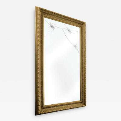 Barberini Gunnell Wall mirror gold leaf rectangular classic frame made in Italy