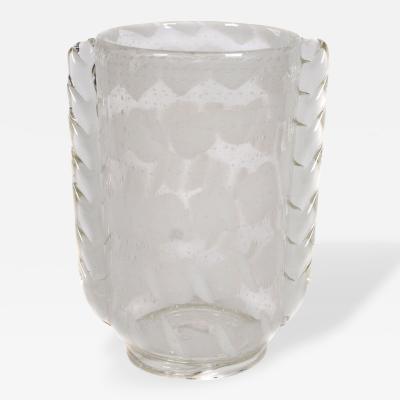 Barovier Seguso Ferro Tall Italian Blown Glass Vase by Barovier Seguso Ferro Circa 1935