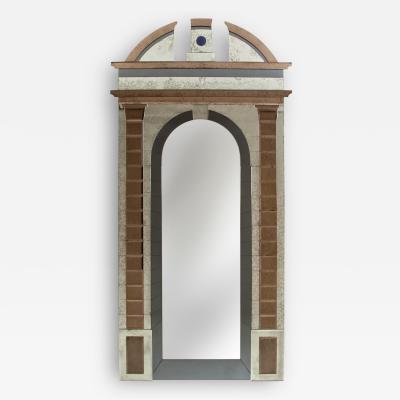 Barovier Toso A Large Italian Architectural Tromp Loiel Mirror by Lorenzo Forges Davanzati