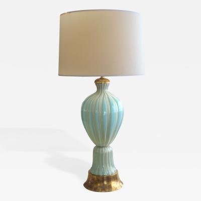 Barovier Toso A Large and Good Quality Murano Barovier Toso Seafoam Green Lamp