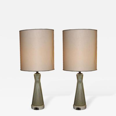 Barovier Toso A Pair of Murano Glass Table Lamps by Barovier