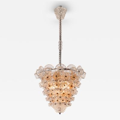 Barovier Toso An Italian Colorless and Amber Glass Chandelier