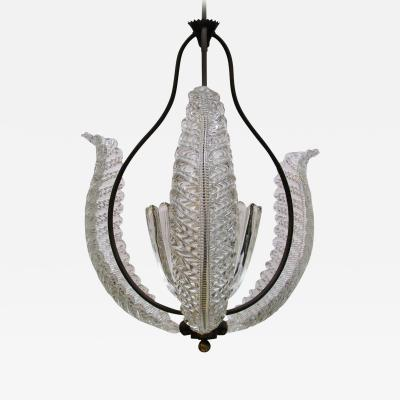 Barovier Toso Barovier Glass Bell and Leaves Chandelier