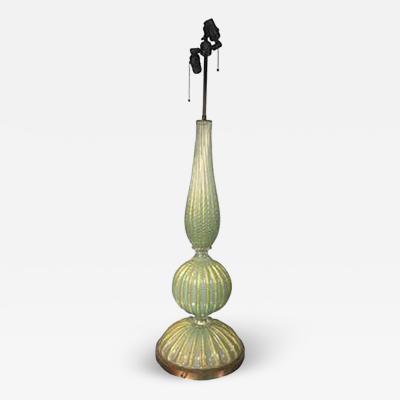 Barovier Toso Beautiful Barovier Toso Murano Glass Cordonato dOro Table Lamp