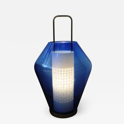 Barovier Toso Blue Lanterna Lamp by Barovier Toso