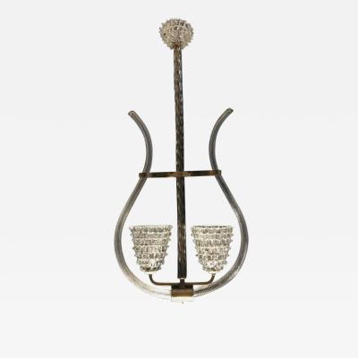 Barovier Toso Charming Chandelier by Barovier Toso Murano 1940s