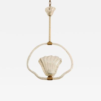 Barovier Toso Clear Murano Bubble Glass Hanging Light by Barovier Toso