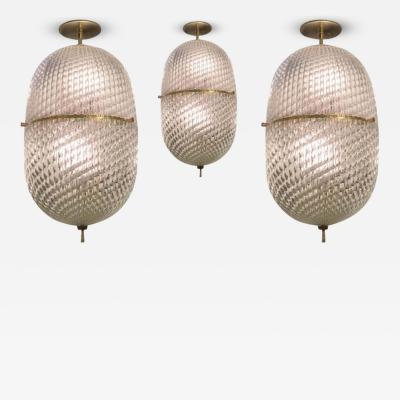 Barovier Toso Elegant Set of Barovier and Toso Pendants