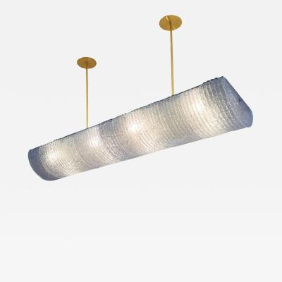Barovier Toso Elongated Ceiling Light in the Style of Barovier and Toso