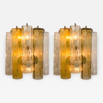 Barovier Toso Extra Large Wall Sconces or Wall Lights Murano Glass Barovier Toso 1960s