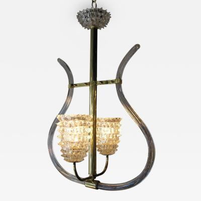 Barovier Toso Glass Chandelier Barovier Toso Italy 1950s