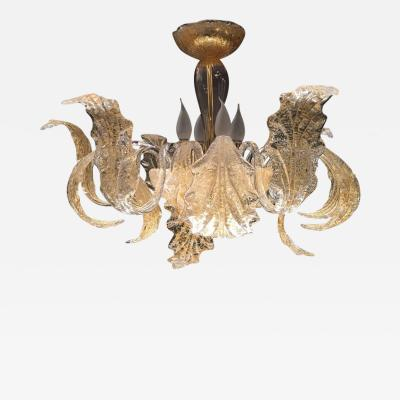 Barovier Toso Gold Royal Chandelier by Barovier Toso 1980s