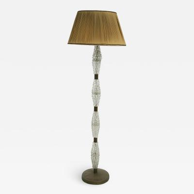 Barovier Toso Italian Floor lamp by Barovier Toso in rostrato glass and brass 1940s