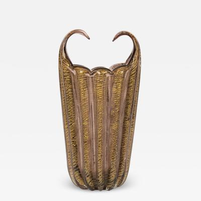 Barovier Toso Large Amethyst Vase Attributed To Barovier Toso