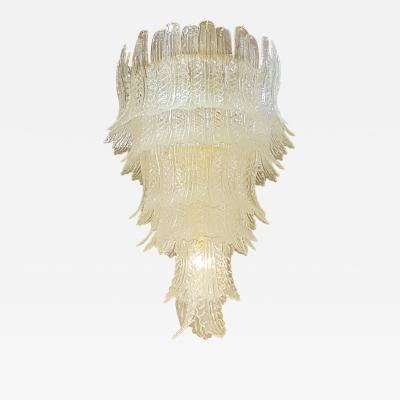 Barovier Toso Large Barovier e Toso Mid Century Modern Murano Leaves Chandelier