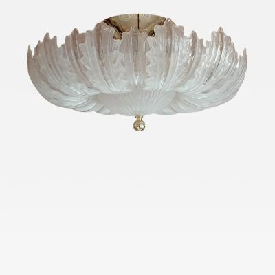 Barovier Toso Large Mid Century Modern Murano glass flush mount light Barovier Toso style