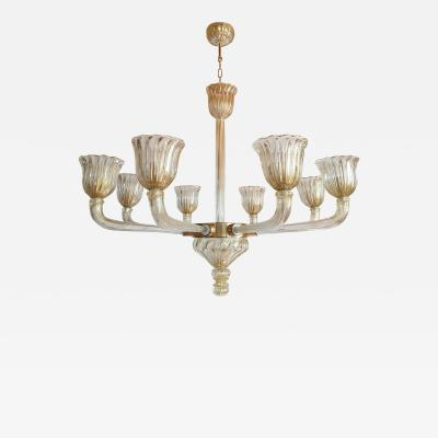 Barovier Toso Mid Century Modern Murano glass large chandelier by Barovier Italy 1960