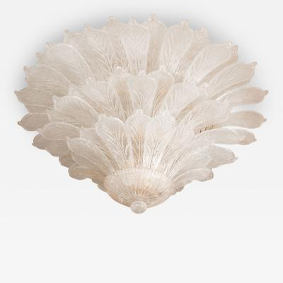 Barovier Toso Monumental Glass Frond Ceiling Fixture