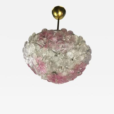 Barovier Toso Murano Ceiling Pendant Floral Basket by Barovier Toso 1970