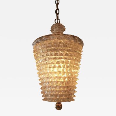 Barovier Toso Murano Glass Rostrato Pendant Lantern by Barovier Toso C 1950s
