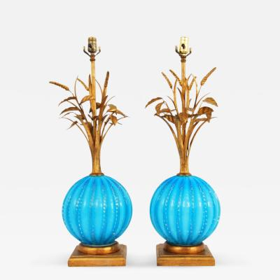 Barovier Toso Murano Lamps Attributed to Barovier Toso