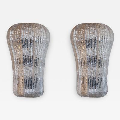 Barovier Toso N8531B Pair of Sconces by Barovier Toso Italy Murano 1940