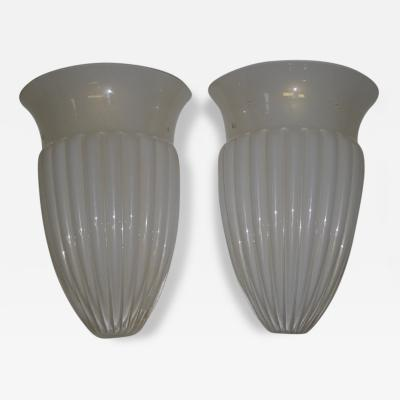 Barovier Toso Neoclassical Style Pair of Sconces by Barovier Toso Murano