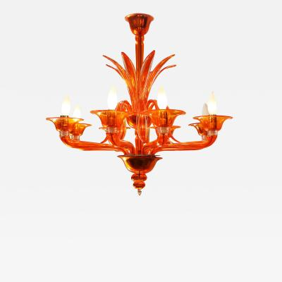 Barovier Toso Orange Chandelier by Barovier Toso