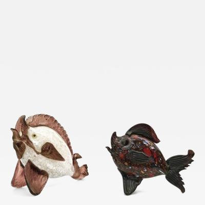 Barovier Toso Pair of Barovier Fishes by Fratelli Toso 1930s