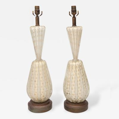 Barovier Toso Pair of Barovier Toso Bubble Lamps