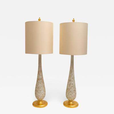 Barovier Toso Pair of Murano Glass Table Lamps