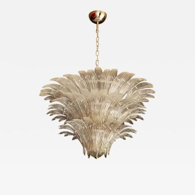 Barovier Toso Palmette Murano Glass Chandelier of Flush Mount in the Manner of Barovier Toso
