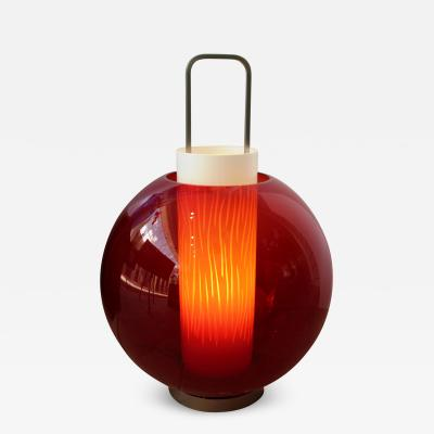 Barovier Toso Red Lanterna Lamp by Barovier Toso