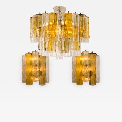 Barovier Toso Set of Extra Large Barovier Toso Light Fixtures Two Wall Lights One Chandelier