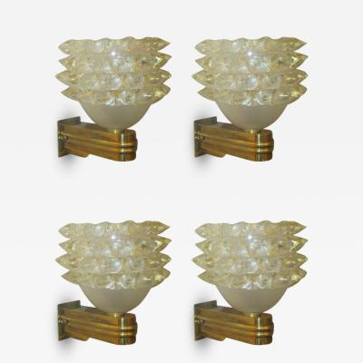 Barovier Toso Set of Four Barovier Toso Sconces