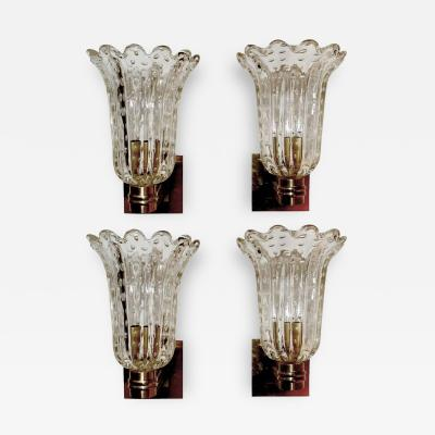Barovier Toso Set of Four Barovier and Toso Sconces