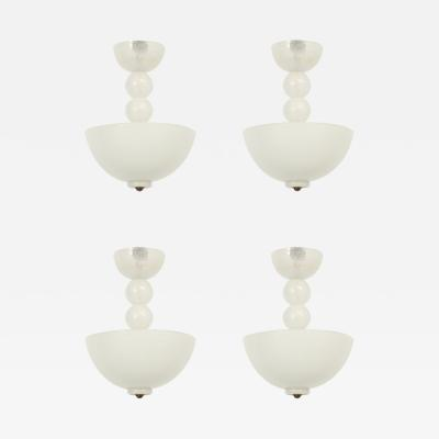 Barovier Toso Set of Four Ceiling Lamps by Barovier Toso Italy 1950s