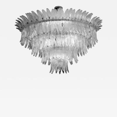 Barovier Toso Spectacular Palmette Chandelier by Barovier Toso Murano 1960s