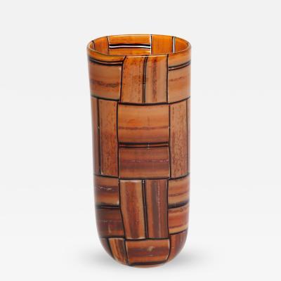Barovier Toso Tessere Ambra Vase by Barovier Toso