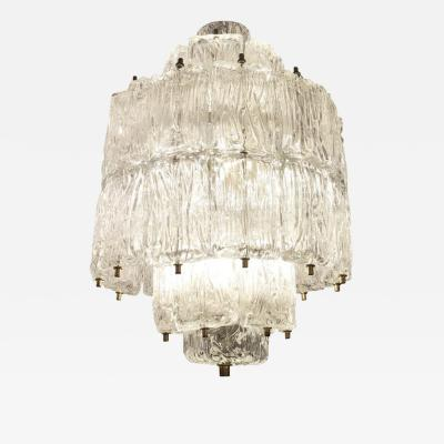 Barovier Toso Textured Glass Barovier and Toso Chandelier Italy 1950 s