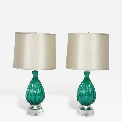 barovier toso turquoise murano glass lamps by barovier