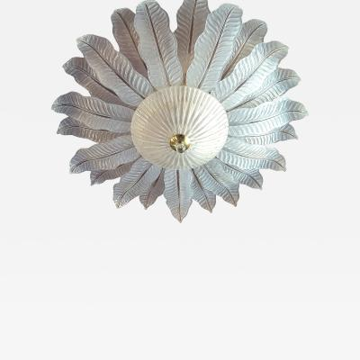 Barovier Toso Very large flush mount Murano chandelier Mid Century Modern Barovier Toso 1970s