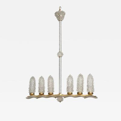 Barovier Toso Vintage Murano Glass Light Fixture by Barovier