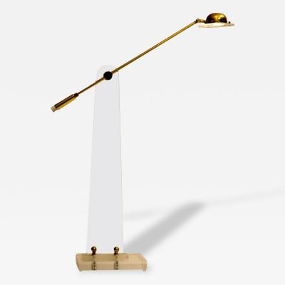 Bauer Lamp Company Lucite and Brass Floor Lamp by Bauer