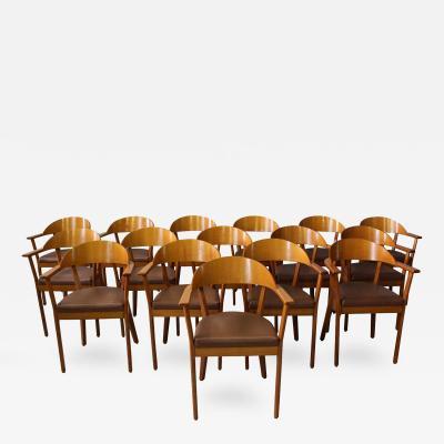 Baumann France 16 Wooden Armchairs by Baumann 1980s