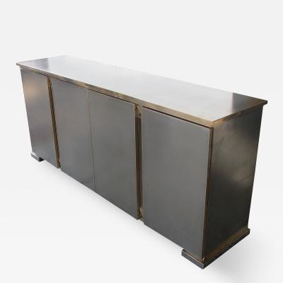 Belgo Chrome A Good Quality Belgian Brushed Chrome and Brass Sideboard by Belgo Chrome