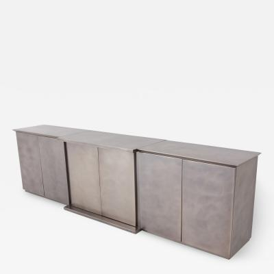 Belgo Chrome Belgo Chrome Credenza in Brushed Stainless Steel 1980s