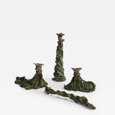 Bella Hunt DDC FOGLIA DI FUOCO SET Candle holders