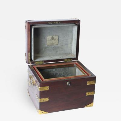 Benson Hedges English Edwardian Cigar Humidor by Benson Hedges made for John Bethune Stein