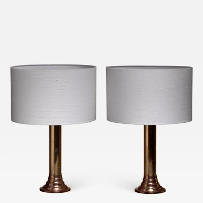 Bergboms Bergboms brass table lamps Sweden 1950s